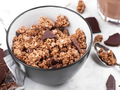 Keto granola chocolade