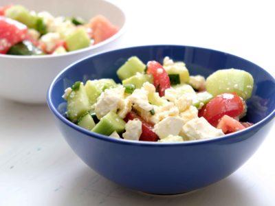 Keto Griekse lunch salade