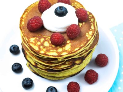 Low-carb ricotta hotcakes